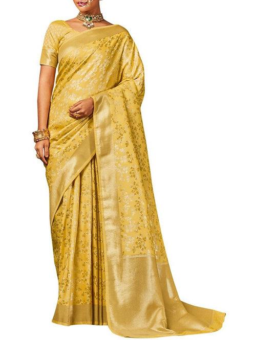 Eye-Popping Yellow Designer Sarees Online Shopping With Price