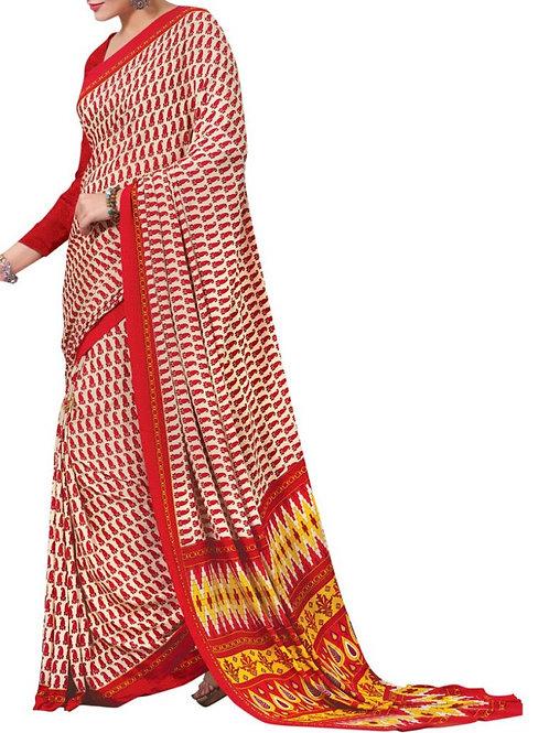 Elegant Multi Color Bengali Saree