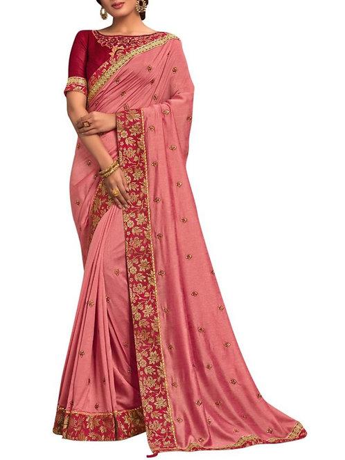 Beautiful Pink Party Wear Saree