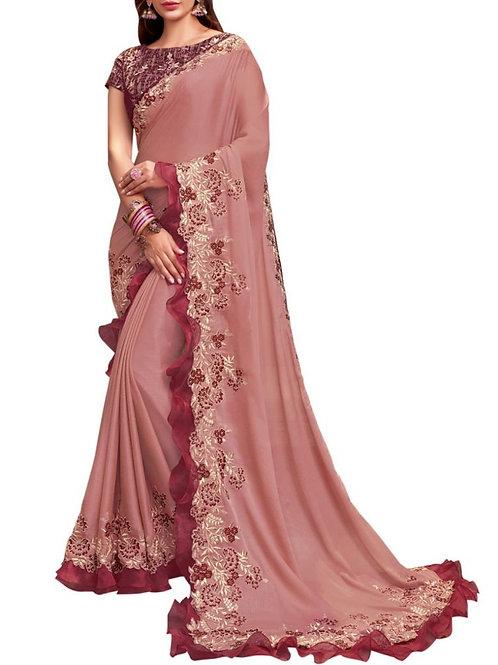 Alluring Pink Indian Saree