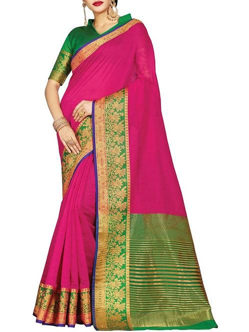 Enchanting Dark Pink Color Bollywood Sarees Online Shopping