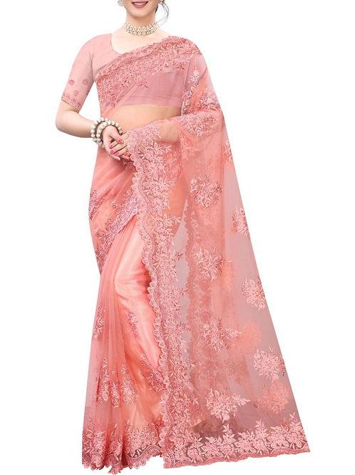 Graceful Light Pink Best Designer Sarees