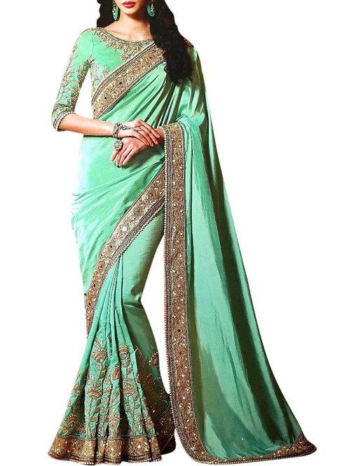 Confounding Sea Green New Saree Collection