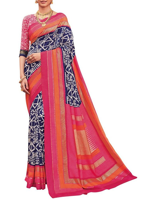 Exclusive Blue Printed Sarees Online