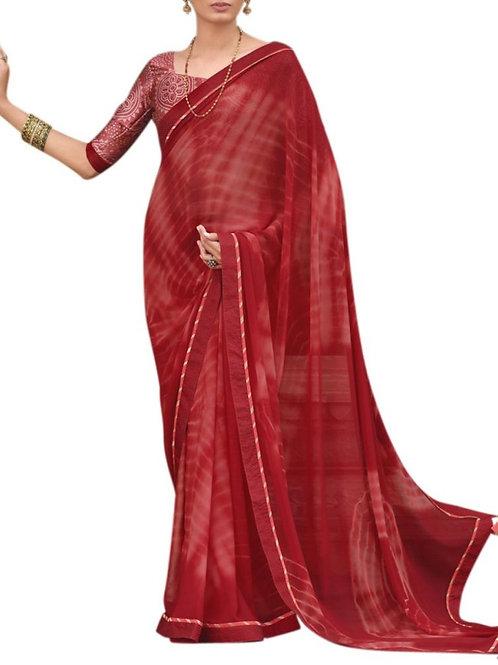 Awe-Inspiring Maroon Latest Saree Fashion