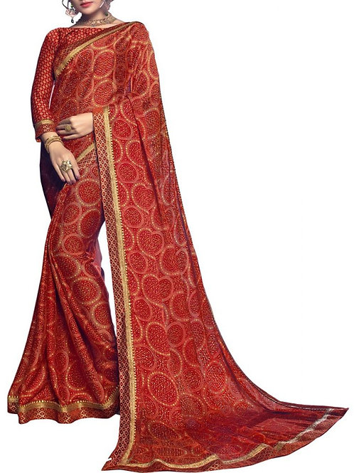 Excellent Maroon Color Fancy Designer Saree Price