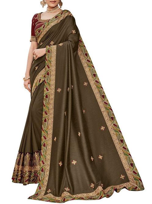 Cheery Brown Women Saree