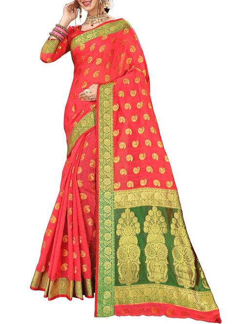Graceful Pink Color Saree Fashion