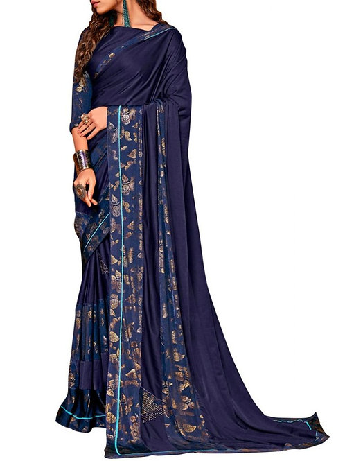 Elegant Blue Latest Saree Design With Price
