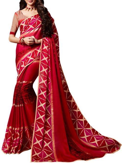 Electrifying Maroon Color Sarees Online India