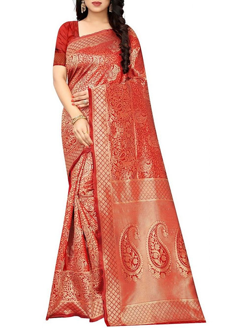 Exclusive Red New Saree Collection