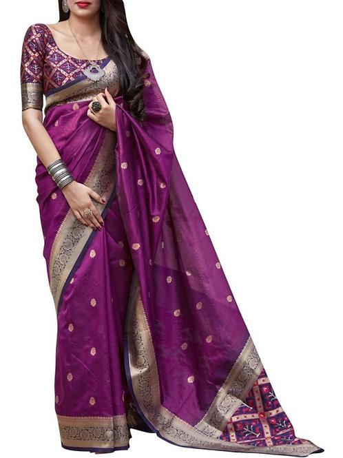 Brilliant Purple Sarees Online