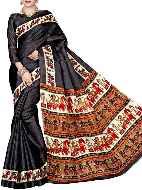 Attractive Black Color Lehenga Saree Design