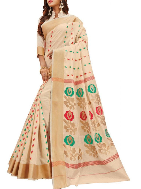 Majestic Off White Color Party Wear Sarees Online Shopping