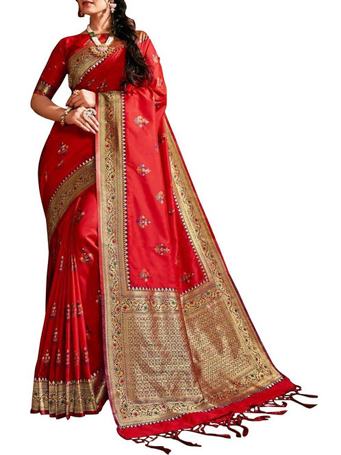 Graceful Red Designer Wear Sarees