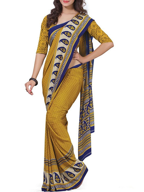Mind-Blowing Mustard Color Designer Saree Collection