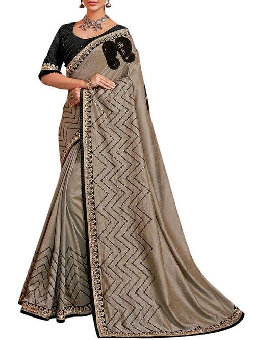 Beautiful Grey Best Saree