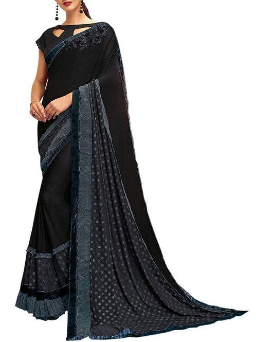 Excellent Black Color Best Online Shopping Sites For Saree