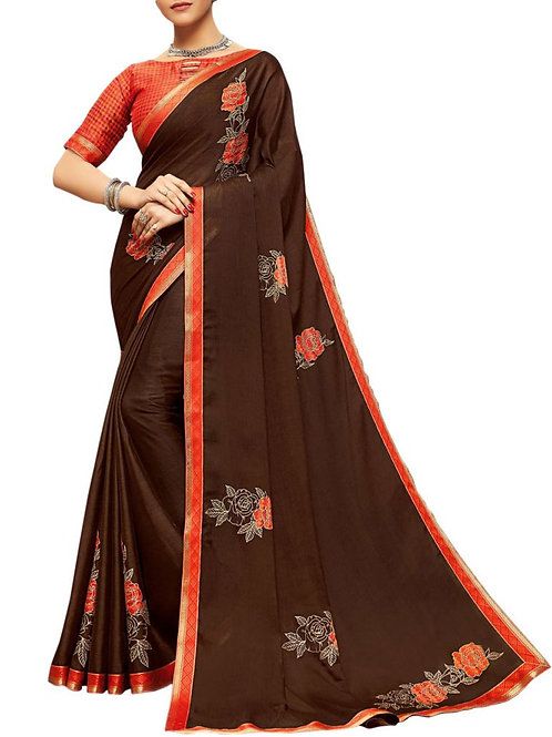 Exclusive Brown Color Sarees Online With Price