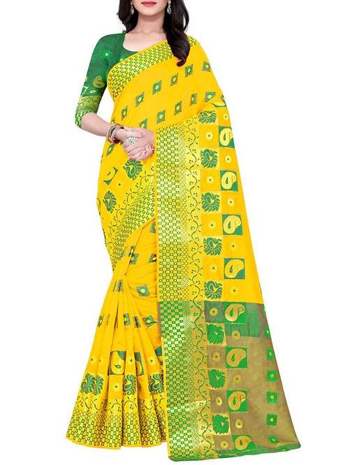 Audacious Yellow Saree Design