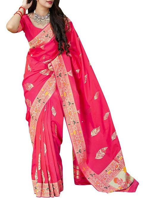 Magnificent Rani Pink Silk Sarees