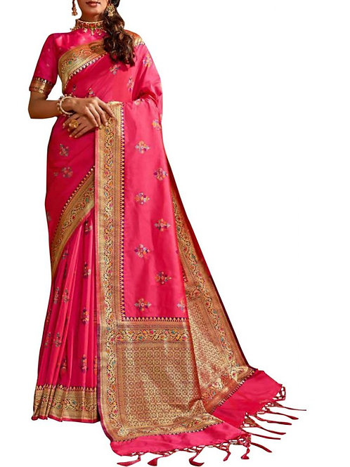 Presentable Pink New Party Wear Saree