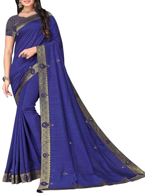 Magnificent Blue Latest Saree Design With Price