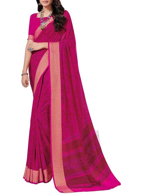 Exhilarant Pink South Indian Sarees
