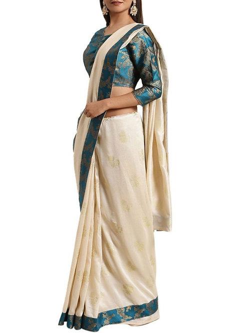 Captivating Off White Silk Saree Online