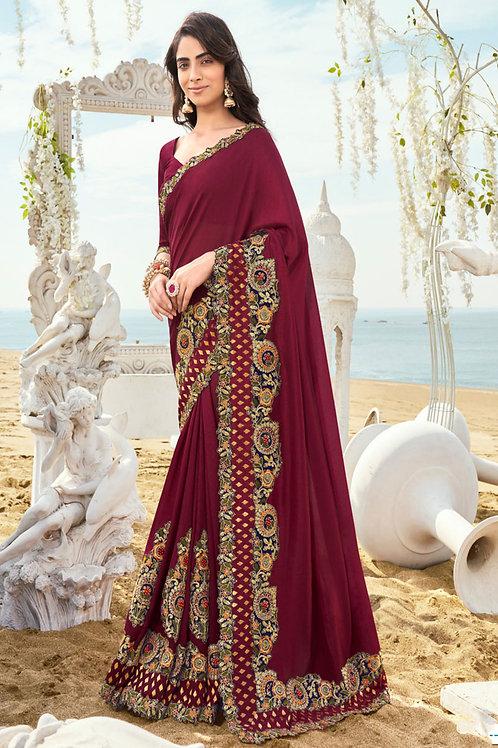 Impressive Collection Maroon Colour Fancy Saree