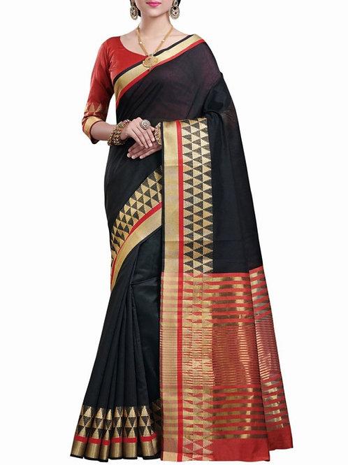 Lovely Black Color Ladies Sarees Online