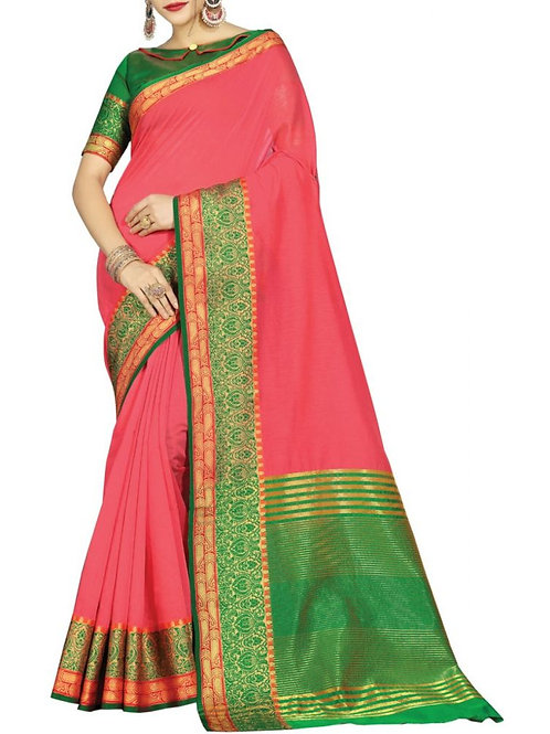 Modish Pink Color Saree Online Shopping