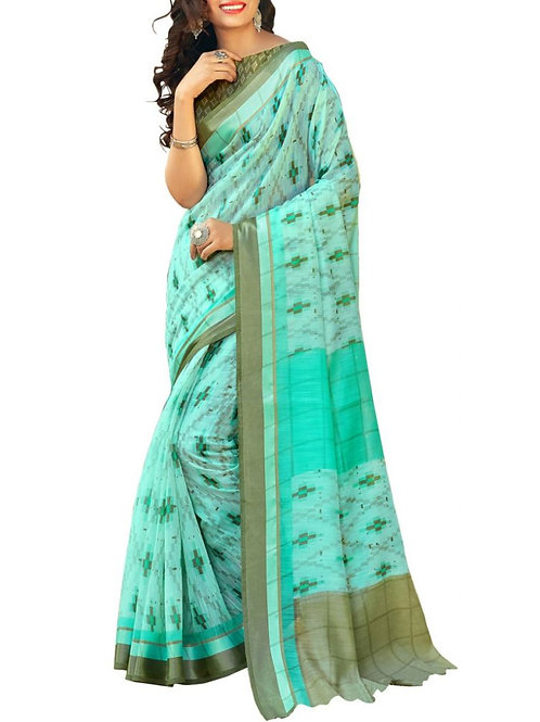 Fabulous Light Blue Color Fancy Saree With Price