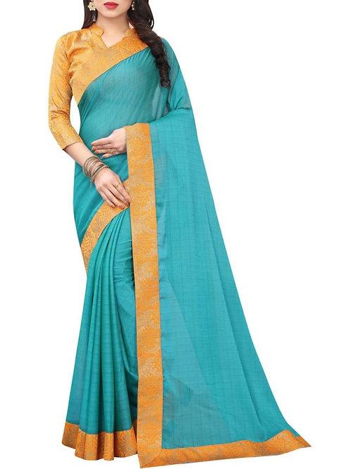 Fantastic Turquoise Buy Saree