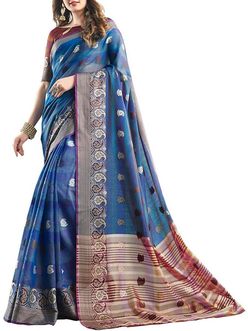 Alluring Blue Color Online Designer Sarees Collection