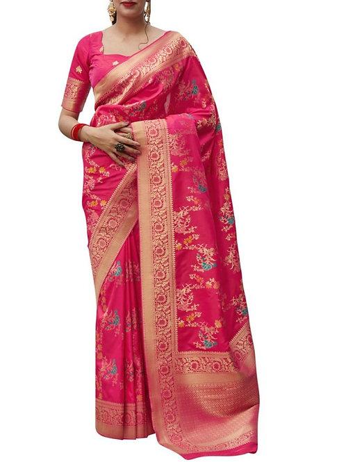 Glorious Rani Pink Indian Saree Collection