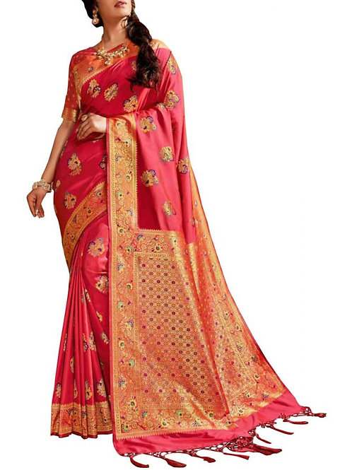 Excellent Peach Party Sarees With Price