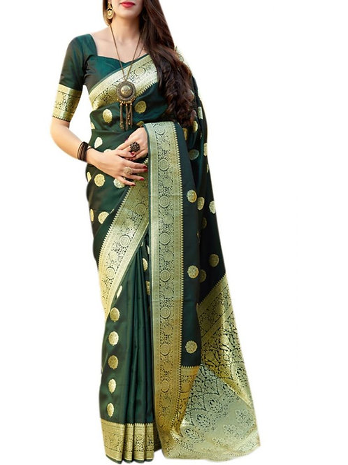 Excellent Green Designer Sarees Online Shopping With Price