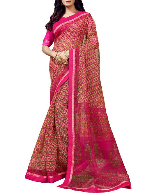 Exclusive Pink Color Buy Sarees Online Cash On Delivery