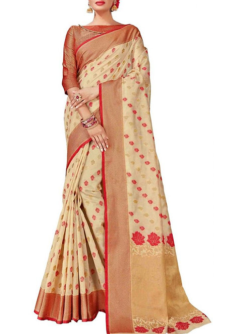 Charming Off White Color Saree Store
