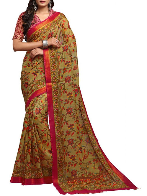 Excellent Beige Online Saree Shopping