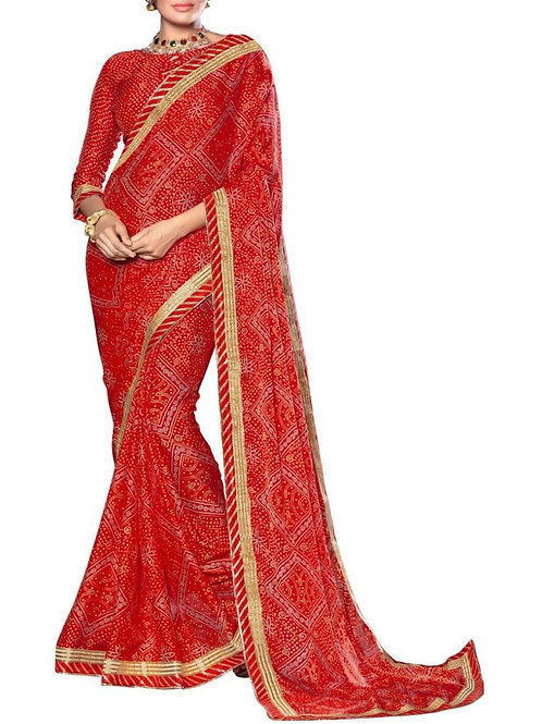 Magnificent Red Color Buy Designer Saree