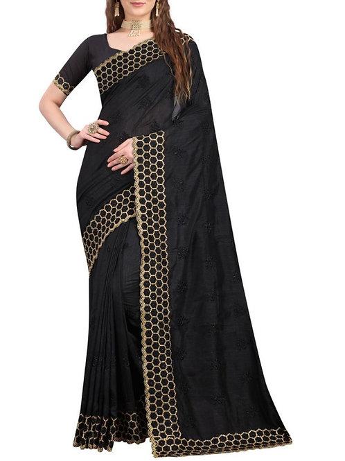 Graceful Black Party Saree