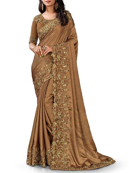 Magnificent Camel Fancy Sarees Online