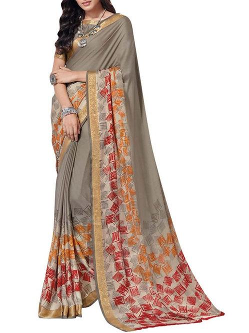 Overpowering Grey Saree Fashion