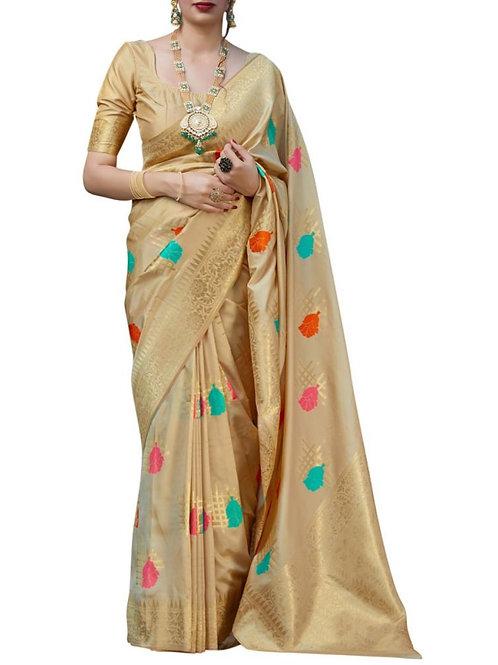 Pleasant Cream Indian Saree