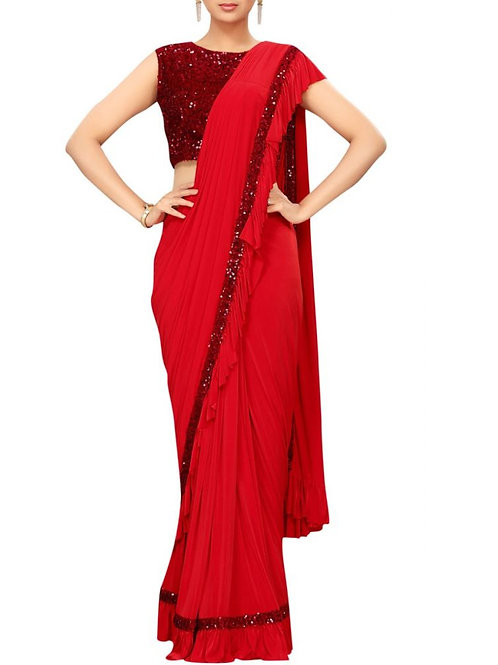 Delight Red Color Saree Collection
