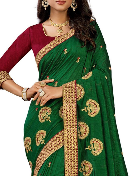 Marvelous Green Fancy Sarees Collection With Price
