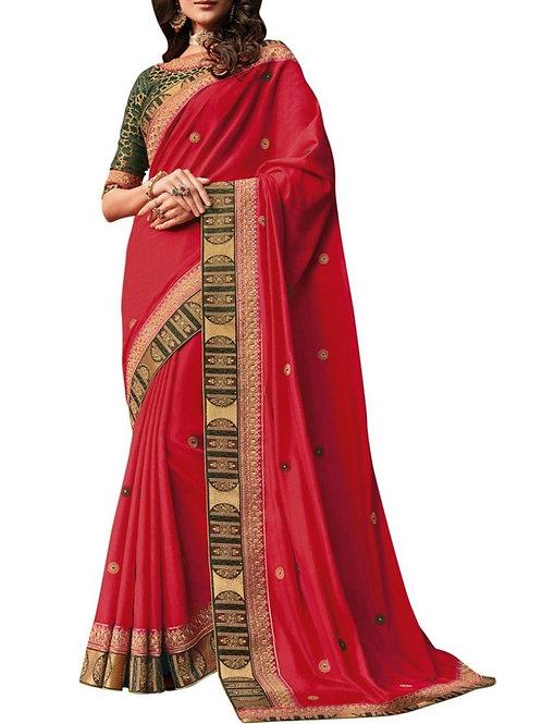 Electrifying Red Best Designer Sarees Online