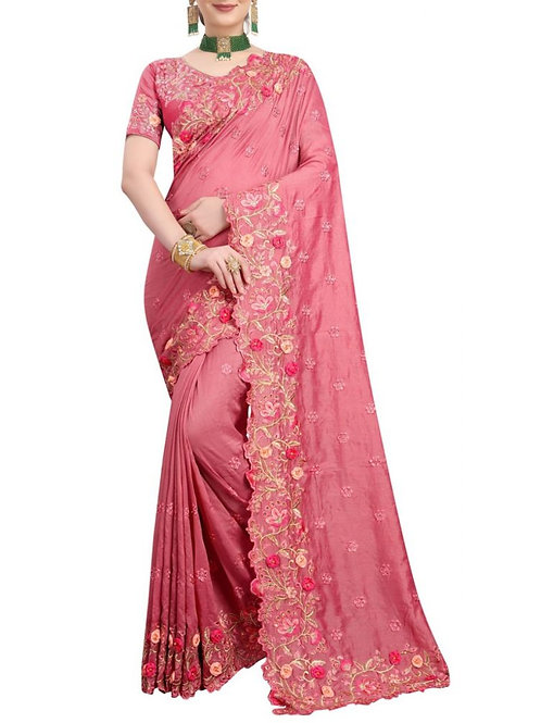 Lovely Tomato Designer Sarees Online Shopping With Price
